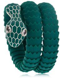 TAMARA DONALLI - Clea Emerald Snake Wrap Bracelet - Lyst