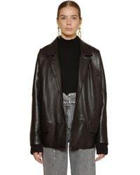 Alberta Ferretti Leather Jacket - Black