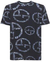 Giorgio Armani - Ga ストレッチビスコースジャージーtシャツ - Lyst