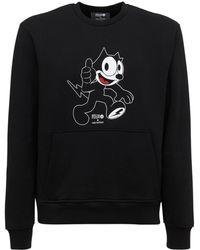 Neil Barrett Felix The Cat ジャージースウェットシャツ - ブラック