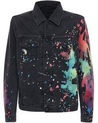 DIESEL Watercolor コットンデニムジャケット - ブルー