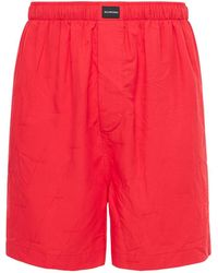Balenciaga Пижамные Шорты - Красный