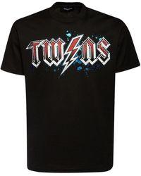 DSquared² - Twins コットンジャージーtシャツ - Lyst