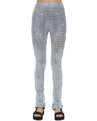 we11done - Glittered Straight Pants - Lyst