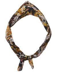 KENZO Wwf Capsule Printed Cotton Scarf - Multicolour