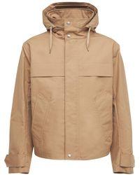 AMI Куртка Из Хлопковой Парусины С Капюшоном - Естественный