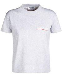 Balenciaga Хлопковая Футболка С Логотипом - Серый