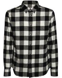 Moncler チェックコットンシャツ - ブラック