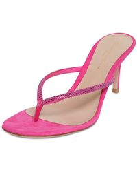 Gianvito Rossi 70mm Embellished Suede Thong Sandals - Mehrfarbig