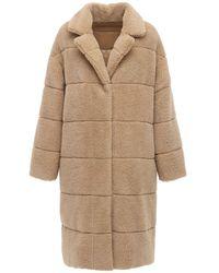 Moncler Пальто Из Искусственного Меха - Естественный