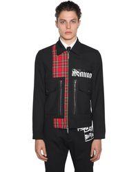DSquared² Jacket Aus Wollmischung Mit Zip - Schwarz