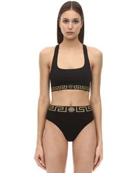Versace Top In Techno Jersey Stretch - Nero