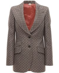 Gucci Пиджак Из Шерстяного Жаккарда - Многоцветный