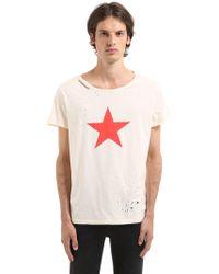 Garçons Infideles T-shirt En Jersey Déchiré Imprimé Étoile - Blanc