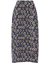 RIXO London Georgia シルクスカート - ブルー