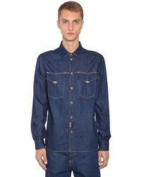 Versace Jeans Couture - Denim Western Shirt W/ Metal Details - Lyst