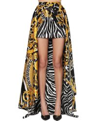 Versace Baroque Train Mini Skirt - Black