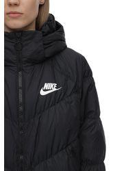 """Nike Parka Aus Nylon Mit Kapuze """"nsw"""" - Schwarz"""