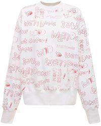 we11done コットンジャージースウェットシャツ - ホワイト