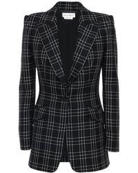 Alexander McQueen ウールジャケット - ブラック