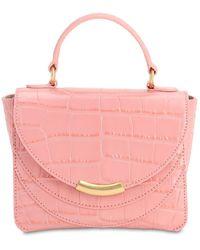 Wandler Luna クロコエンボスレザーバッグ - ピンク