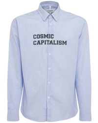 Soulland Cosmic Capitalism コットンシャツ - ブルー