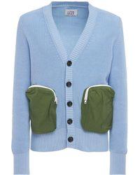 LC23 Cardigan In Maglia Di Cotone - Blu