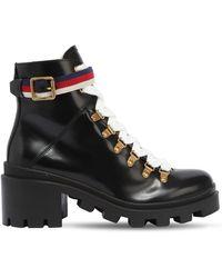 Gucci Ботинки С Отделкой Sylvie Web - Черный