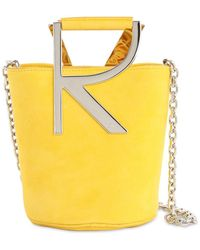 Roger Vivier Rv Suede Bucket Bag - Yellow