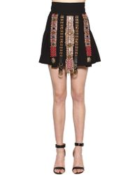 Fausto Puglisi - Embellished Wool Crepe Skirt - Lyst