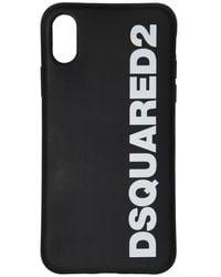 DSquared² Iphone X/xs-cover Aus Gummi Mit Logodruck - Schwarz
