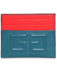 Givenchy - Emblem Leather Card Holder - Lyst