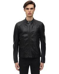 Belstaff V-racer 2.0 Tumbled Leather Jacket - Black