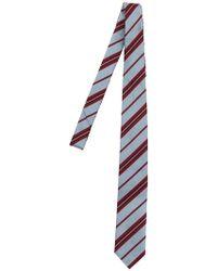 Prada - 7cm Regimental Print Silk Tie - Lyst