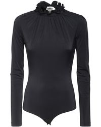 MM6 by Maison Martin Margiela Body Stretch Con Ruches - Nero