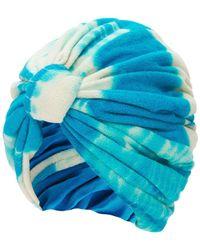 """MaryJane Claverol Turban En Tissu-éponge Tie & Dye """"biba"""" - Bleu"""