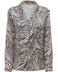 Stella McCartney Maggie シルクサテンシャツ - ブラック