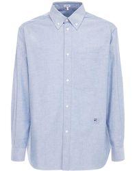 Loewe - Oxford コットンボタンダウンシャツ - Lyst