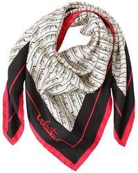 Valentino Garavani Signature Stripes Printed Silk Scarf - Многоцветный
