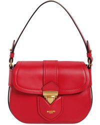 Moschino | Lock Leather Shoulder Bag | Lyst