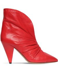 "Isabel Marant Stivali ""Lasteen"" In Pelle 90Mm - Rosso"