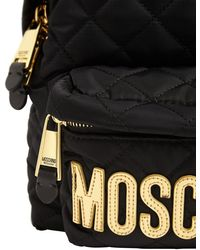 Moschino Md Quilted Nylon Backpack - Schwarz