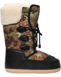 DSquared² - Camouflage Nylon & Faux Leather Boots - Lyst
