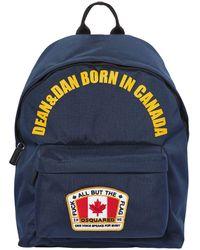 DSquared² Canada ナイロンキャンバスバックパック - ブルー
