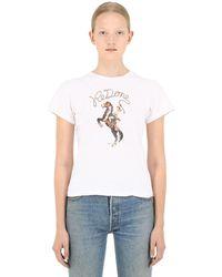 RE/DONE - コットンtシャツ - Lyst