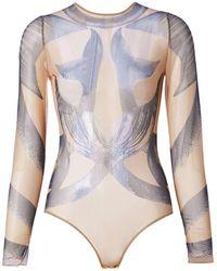 Burberry Body Mermaid Tail en tulle - Bleu