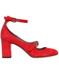 Tabitha Simmons 75mm Tutu Double Strap Suede Court Shoes - Red
