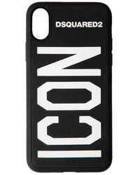 DSquared² Чехол Для Iphone X/xs С Принтом Логотипа - Черный