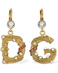 Dolce & Gabbana Dg City Drop Earrings - Metallic