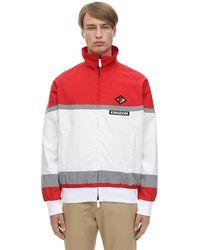 Burberry Куртка Из Нейлона На Молнии - Красный